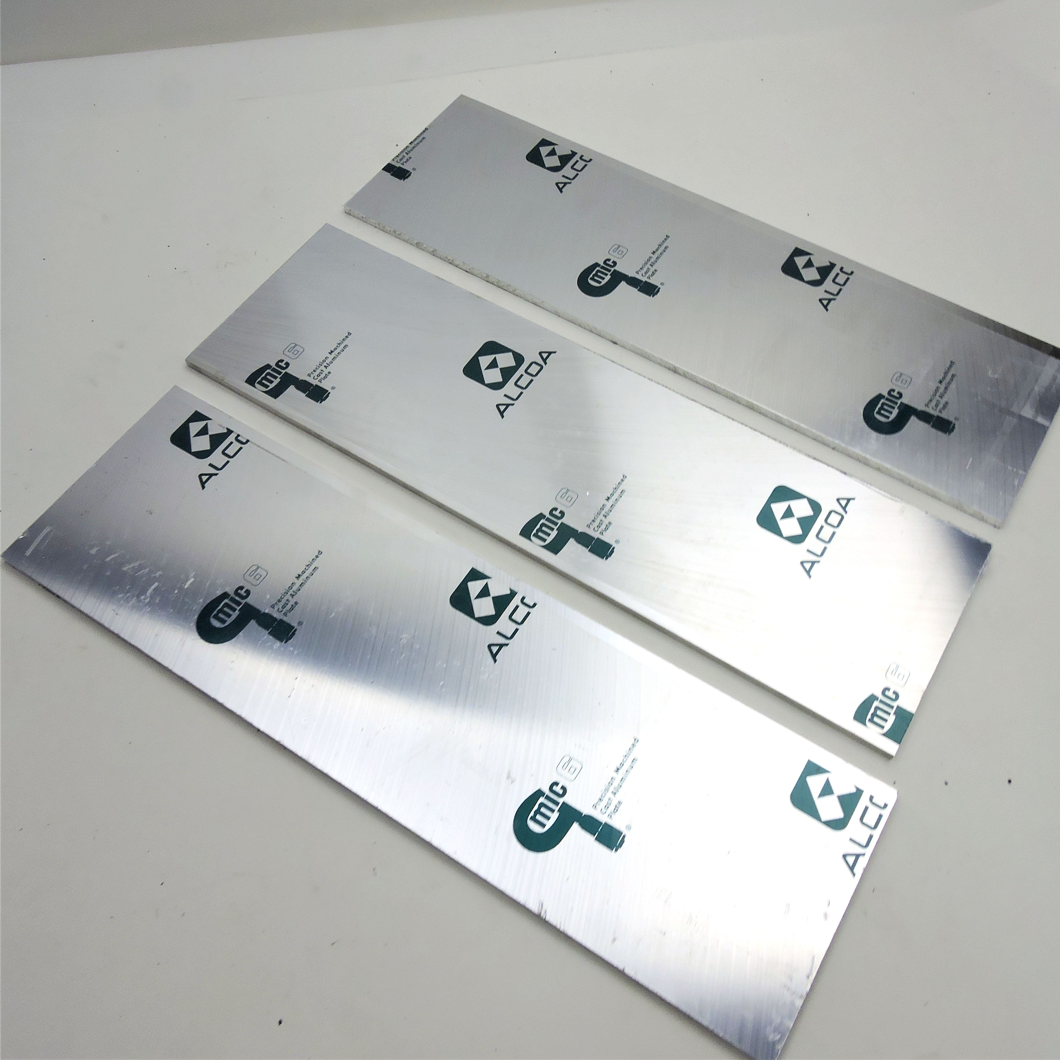 """.3125/"""" thick CAST Aluminum MIC-6  Flat PLATE 3.9375/"""" x 13.625/"""" QTY 5  sku174541"""